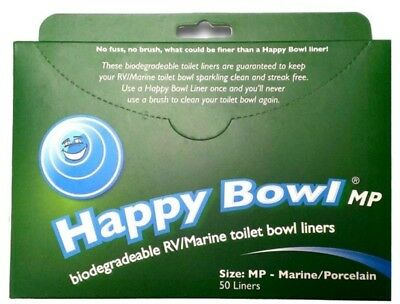 Happy Bowl Mp Toilet Liners Rv Marine Porcelain Cassette Biodegradable