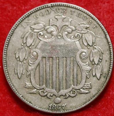1867 Philadelphia Mint Shield Nickel Free Shipping