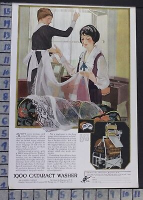 1920 Cataract 1900 Washer Maid Housewife Laundry Home Decor Vintage Ad  Ci10
