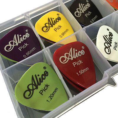Hot 40pcs Alice acoustic or electric guitar picks and paddle box set gift