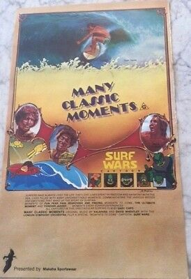 1978 Surf Movie Poster - Many Classic Moments & Cartoon Surf Wars, USA(?)