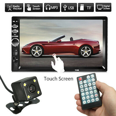 Camera Double 2 Din 7'' Car Stereo Radio MP5 MP3 Player Head Unit + Free Gift AU