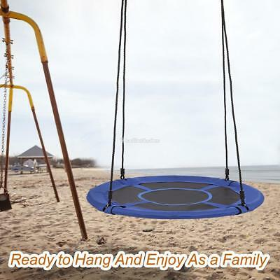 Giant Padded Fabric Crows Nest Rope Swing Spider Web Net Outdoor Garden Seat