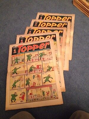 5 x TOPPER UK COMIC FROM 1968 GOOD CONDITION FOLDED