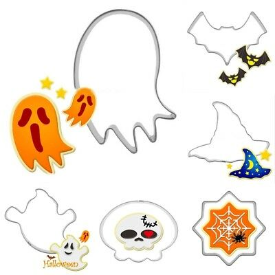 1Pc Halloween Stainless Steel Cake Biscuit Cookie Cutter Mold DIY Baking Tool