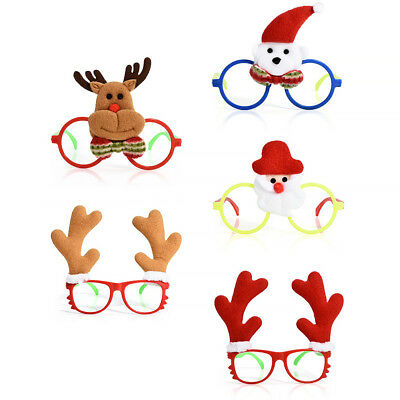 Xmas Santa Snowman Christmas Glasses Frame Decoration Novelty Fancy Dress Xmas
