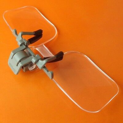 2X Aged Glasses Clip Type High Definition Acrylic Lens Magnifying Glass Loupe .