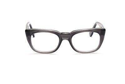 Vintage 1960s mens eyeglasses Selecta Mod. Rocky in Grey Smoke in 50-20mm EG 27