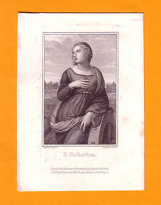 Altes Andachtsbild S. Catharina