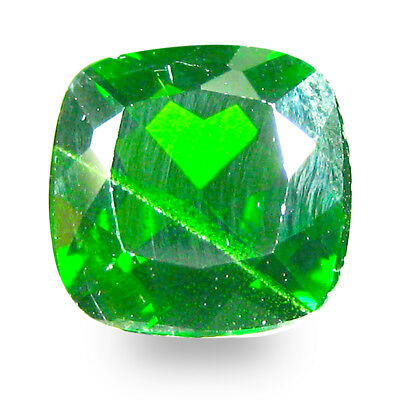2.34 ct  Pleasant Cushion Shape (8 x 8 mm) Green Chrome Diopside Gemstone