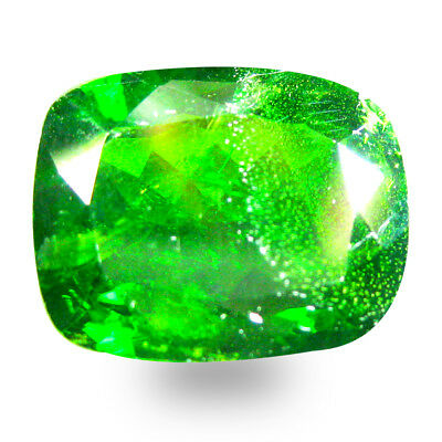 9.24 ct  Amazing Cushion Shape (15 x 12 mm) Green Chrome Diopside Gemstone