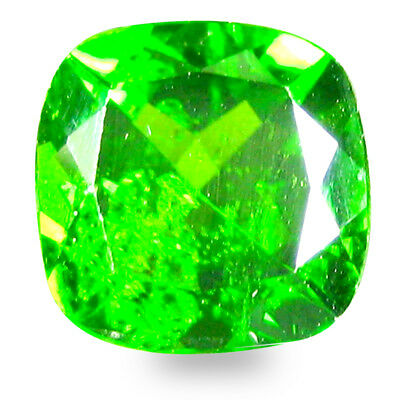 2.18 ct  Impressive Cushion Shape (8 x 8 mm) Green Chrome Diopside Gemstone