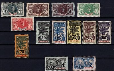 P36746/ Guinee Fr / French Guinea – Maury # 33 / 39 – 41 / 46 Neufs * Mh 187 €