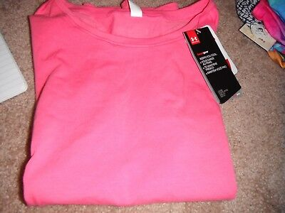 New Girls Under Armour Pink T-shirt size YMD (10-12)