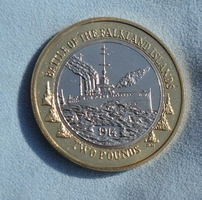 Battle Of The Falkland Islands Two Pound £2 Coin, Uncirculated but quality urgh!