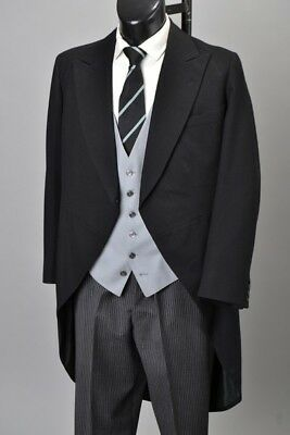 Officers 1957 Bespoke London Morning Dress Tailcoat & Striped Trousers. CDB