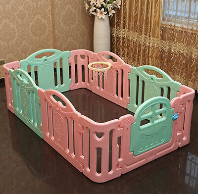 Baby Kids Playpen Security Foldable Panels Indoor Toddler Play Fence 10 PCs*..