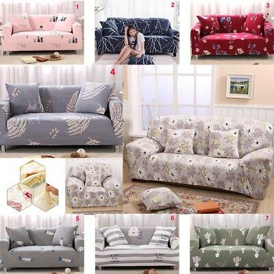 Anti-Skid Elastic 1/2/3/4 Seater Cover Sofa Stretch Protector Couch Slipcover