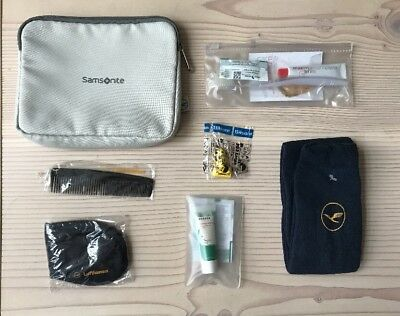 Lufthansa Business Class Samsonite Travel Amenity Kit Kulturbeutel grau grey NEW