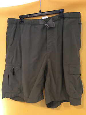 Columbia Men's Cargo Olive Green Shorts with Web Belt - Size XL