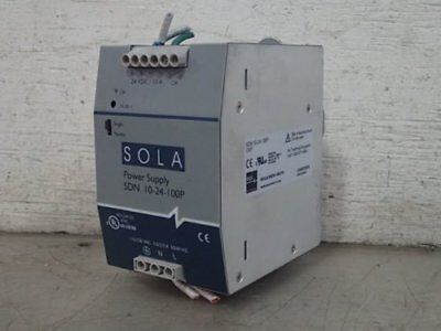 SOLA SDN 10-24-100P POWER SUPPLY, 115/230 vac, 24 vdc