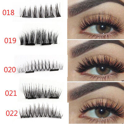 5Style Ultra-Thin Lashes SKONHE Double Magnetic Faux Cils Grosse Croix Long