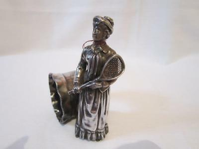 Vintage Rogers & Co Figural  Silverplate Tennis Player Napkin Ring