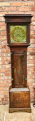 8 Day Oak Longcase Grandfather Clock W. Rowning Brandensary Brandon? f 5 piller