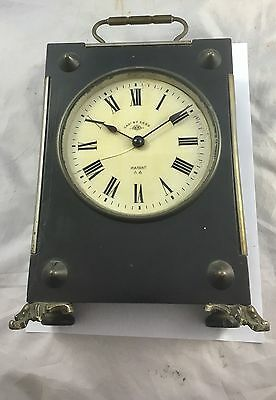 A Very Large black  Carriage  Clock By Cadnbtl Sgbg Patent Aa