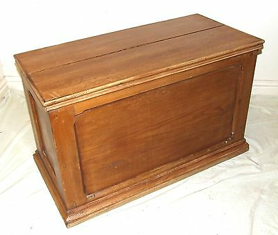Antique Stripped Pine Blanker Box Coffer Toy Chest Shoe Box Laundry Box