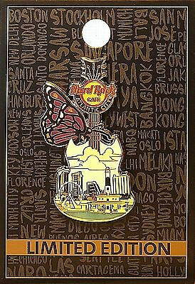 Hard Rock Cafe Atlantic City New Jersey Butterfly Guitar 2017 Pin LE Pin NEW