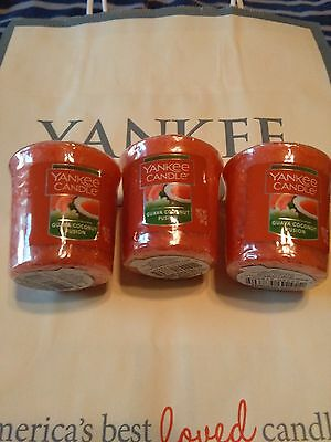 3 Yankee Candle Guava Coconut Fusion Sampler Votives Free Shipping in U.S.