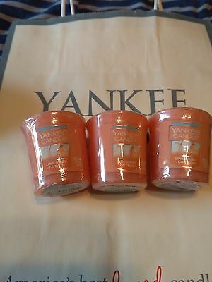 3 Yankee Candle Line-Dried Cotton Sampler Votives Free Shipping in U.S.