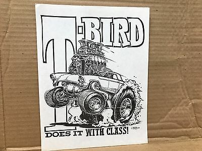 "Vintage 1969 T-Shirt Art Ed""big Daddy"" Roth T-Bird Does It With Class 8.5"" X 11"""