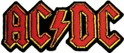 """AC / DC 3.5"""" Logo Embroidered Patch / Iron-On Applique Rock Heavy Metal Rock"""