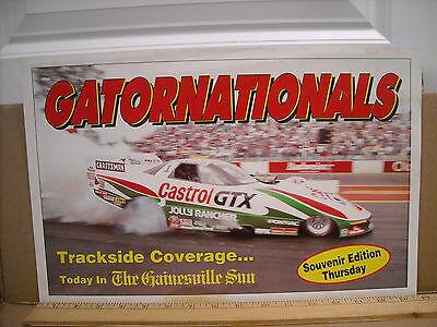 Vintage Original John Force Gatornationals 11 X 16.5 Nhra Poster