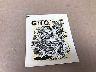 "Vintage Original 1960's Roth Gee T.o. Tiger Water Transfer Decal 3.25"" X 3.75"""