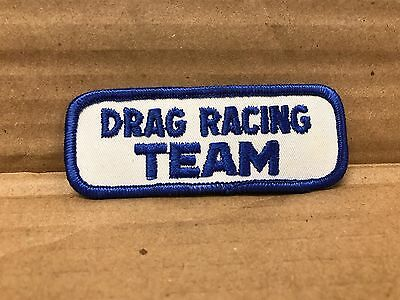 "Vintage Original 1960/70's Embroidered Drag Racing Team Jacket Patch 3.5"" X 1.5"""