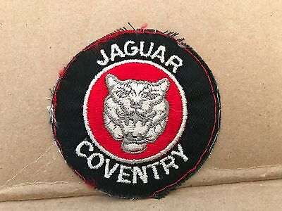 """Vintage 1950/60's Embroidered Jaguar Coventry Jacket Patch 3"""" X 3"""""""