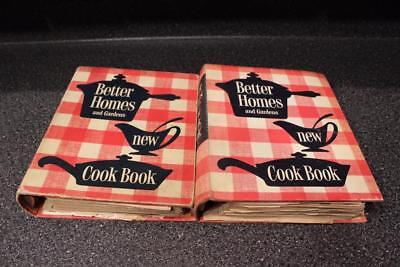 2 Vintage Better Homes & Gardens New Cookbook 5 Ring 1953 5th & 8th Printings