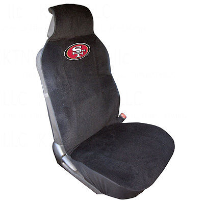 78196a83bcc Brand New NFL San Francisco 49ers Car Truck SUV Van Front Sideless Seat  Cover