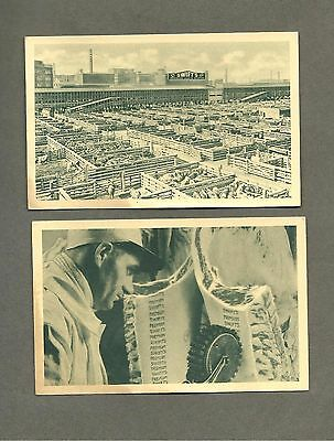 Lot of 2 Swift's Meat Packing Co. Postcards Vintage 1950s Chicago Plant Ephemera