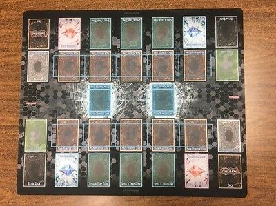 Yugioh 2017 Official Link Strike Two Player Playmat Free Shipping