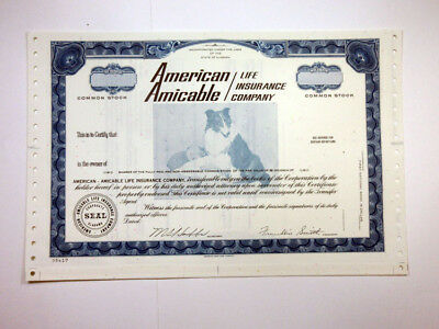 American Amicable Life Insurance Co., ca.1970-1980 Specimen Stock Certificate