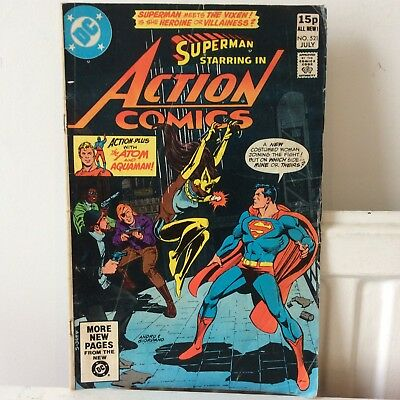 Action Comics SUPERMAN  # 521  First appearance of the Vixen !  PREOWNED
