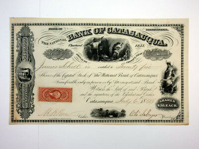 Bank of Catasauqua, 1868 Issued Stock Certificate