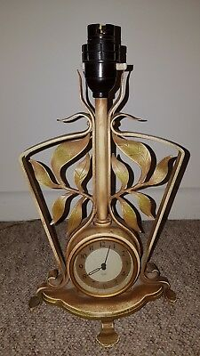 Vintage Early Smiths Sectric Franco Mantel Clock with lamp Working Condition