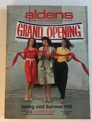 VINTAGE 1982 ALDENS SPRING AND SUMMER CATALOG~Grand Opening Cover