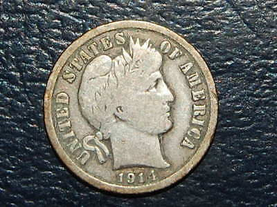 1914-D Barber Dime Nice Coin (443)