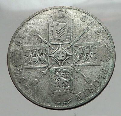 1926 United Kingdom Great Britain GEORGE V Silver Florin 2 Shillings Coin i62900